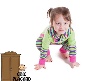 Long Hoodie for girls with grow-with-me pants