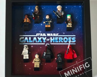 Star Wars Galaxy of Heroes Themed Frame for LEGO Minifigures