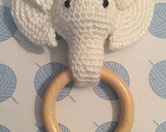 Neutral Ellie or Elvis the Elephant teether