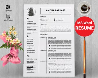 Resume template, resume template instant download, resume template word, CV, CV template, resume template free, resume writing