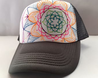 Mandala Painted Hat