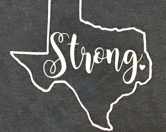 Texas Strong Tee- Texas Strong T-shirt-Womens Texas Tee