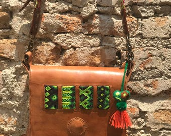 Brown Leather Cross Body From Chiapas
