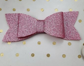 Gorgeous Large Pink Glitter Planner Bow Charm