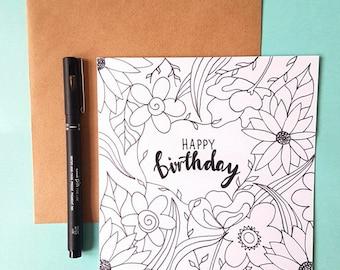 Greetings Card-Birthday Card