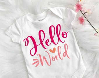 New baby svg - Baby svg - Baby saying - Hello world svg - Birth announcement svg - Baby shower - Newborn - Iron on - svg, png, pdf, eps, dxf
