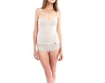 Hemp Undershirt, Tank Top, Woman, Organic Fashion, Handmade, Vegan, 100% Hemp