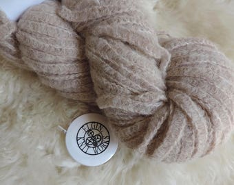 """Classic Elite Century Yarn, """"Oatmeal"""" Color #4436, Super Bulky, Railroad Construction, 98 Yards, Made in Peru"""