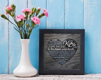 Personalized Heart with text, Great for gifts!