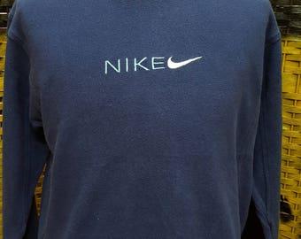 Vintage NIKE / Big embroidery logo / ringer jumper / Medium size sweatshirt (P27)