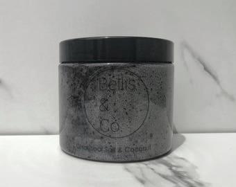 Black Charcoal and Coconut Body Scrub