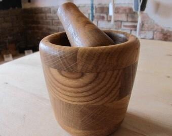 Handmade Oak Pestle and Mortar