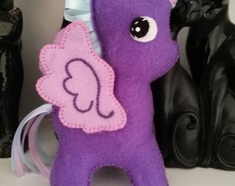 Hand stitched felt Unicorn