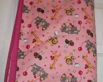 Pink Animal Baby Blanket