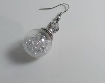 Globe earrings