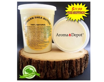 African Shea Butter Raw Unrefined 2 Lb. Ivory Or Yellow 100% Pure Natural Same Day Shipping! FREE SHIPPING!!!