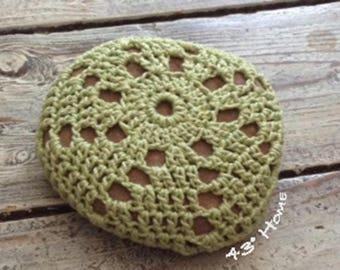 Green Crocheted Stone Cover
