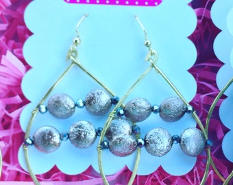 Silver Disks earrings