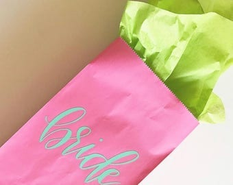 Custom Gift Bag | Personalized Gift Bag | Bride Tribe | Bridesmaid Gift Bags | Bridal Party Gifts | Bridesmaid Gift | Hand Lettered
