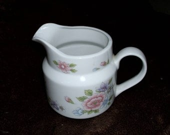 """Vintage China FTDA Marked """"Especially for You F.T.D.A. Made in Japan"""" Small Creamer with Floral Design"""