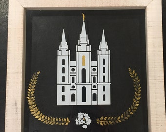Personalized, Handpainted+Vinyl LDS Temple Wedding Gifts