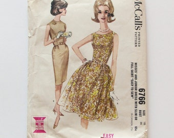 Vintage, Woman's Dress McCall's Pattern 6766 - Used