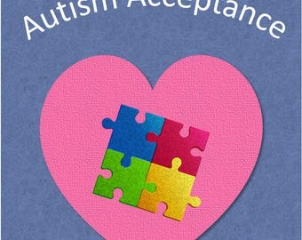 5 of one design Autism greeting card bundle