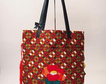 Camellia Vintage Obi Bag