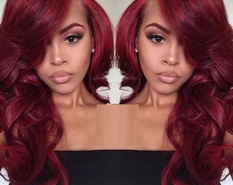 Cherry cola/Crimson handmade unit/wig