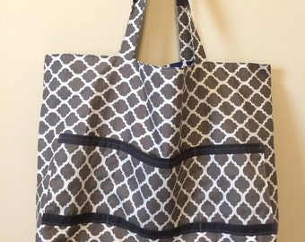 Large Reversible Tote Bag