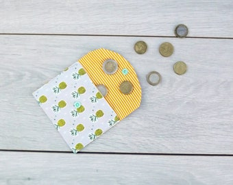 Cotton pineapple motif pouch/coin holder