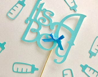 It's a boy, It's a girl cake topper, baby boy cake topper, Gender Reveal cake topper, Baby Shower decor, Blue Cake topper