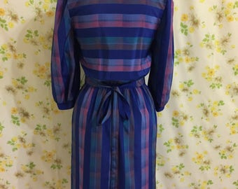 Vintage Checkered Day Dress