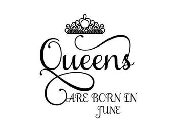 Queens are born in June SVG Crown