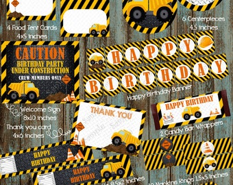 Construction Party Package, Construction Birthday Party, Construction Party Supplies, Construction Decorations, Construction Truck Birthday