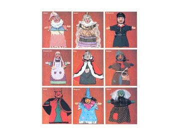 DIY Puppets Pattern - Sewing and clay project for a childrens toy