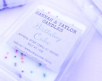 Birthday Cake Soy Candle Wax Melt   Vanilla Cupcake Sprinkles Scent   Creme Brulee Handmade Scented Candle Wax Shots   Birthday Party Favors