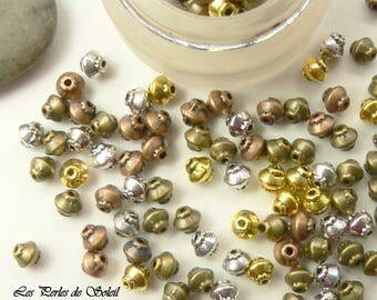 25 beads toned mixed 5x4.5 mm