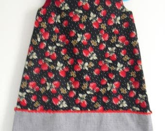 Petite dress in strawberry, T-4 years