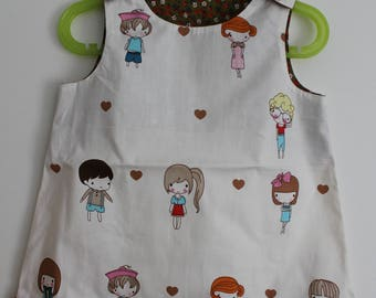 "Small top/tunic ""Cute friends"" T 4 years"