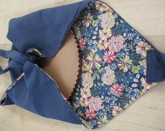 Pie reversible floral cotton bag