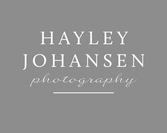 Logo for Photographers, Premade Logo Design, Luxury Logo, Branding Logo Kit, Custom Logo, Business Brand, Traditional Logo, Watermark