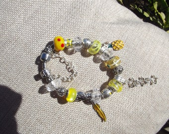Handmade Charm Bracelet - Feather
