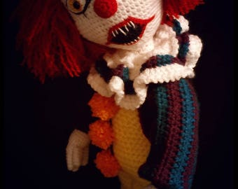Creepy Clown Crochet Pattern