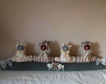 If necessary door cushion Retro romantic shabby chic-cats