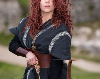 Fantastic medieval vest or jacket with braid