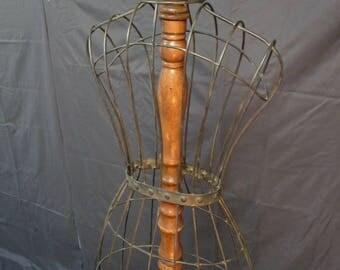 Vintage Wire Frame Mannequin Clothes Shop Dressmakers Dummy