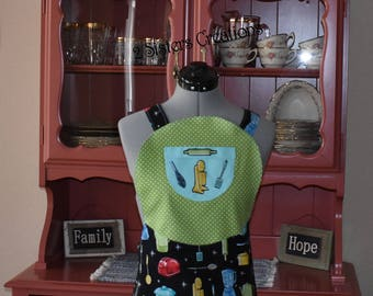 Retro Apron...Cross back straps...Fully lined apron...Great for any chef...Makes great gifts...Can be custom made