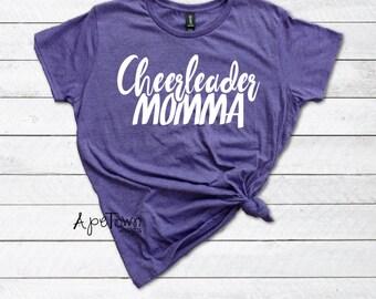 Cheer Mom Shirt - Cheerleader Momma Tee - Proud Cheer Mama - Mom to a Cheerleader