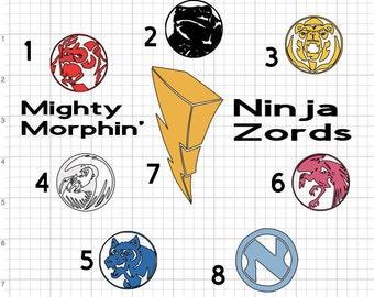 Power Rangers 02 Mighty Morphin Power Ranger ninjetti Power Coin vinyl Decal ***PLEASE READ***